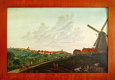 Løvevej fra Havrebjerg mod Slagelse omkring år 1800