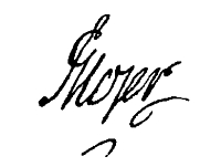 Andreas Hojer's underskrift