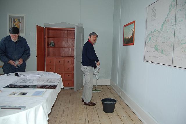 Klargøring af Tersløsegaard's udstilling kort sagt